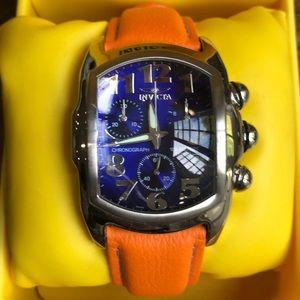 Invicta Accessories - Invicta orange watch blue face watch